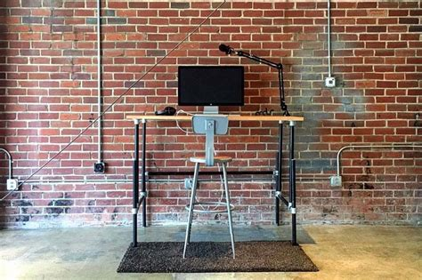 standing desk pipe 37 diy standing desks built with pipe and kee kl