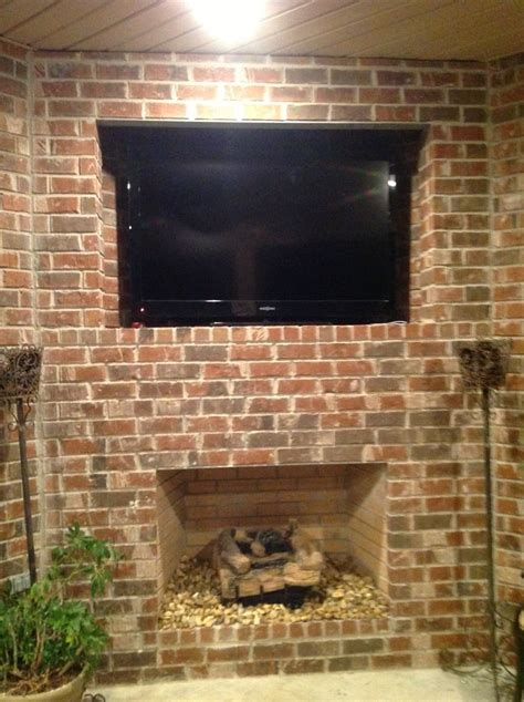 Corner Brick Fireplace by 17 Best Images About Pictures On Stained Concrete Flooring Oval Mirror And Pearls