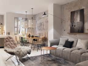 concrete finish studio apartments ideas amp inspiration 25 best ideas about home interior design on pinterest