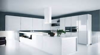 Modern Kitchen With White Cabinets White Kitchens