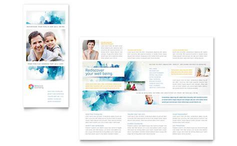 medical health care tri fold brochure templates word