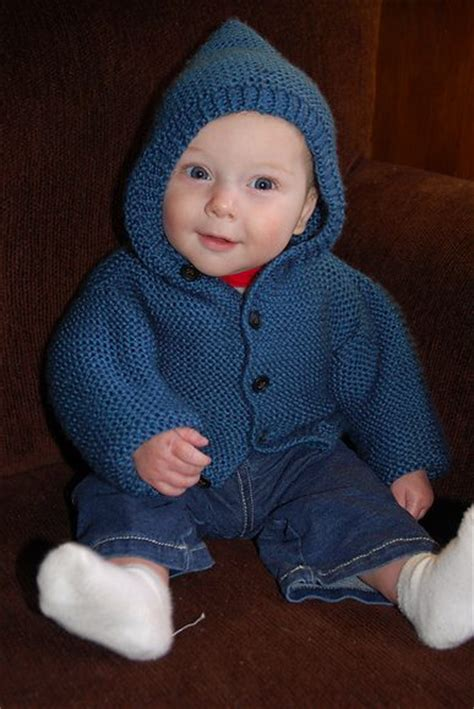 baby hoodie knitting pattern garter stitch one knitting patterns in the loop