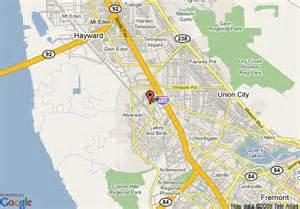 union city california map map of inn express union city union city
