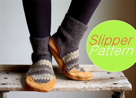 slipper pattern to sew slippers sewing pattern tutorial pdf for