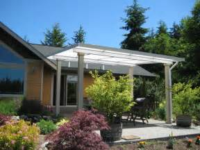 patio cover shed style concrete patio farmhouse patio seattle by decks and patio covers