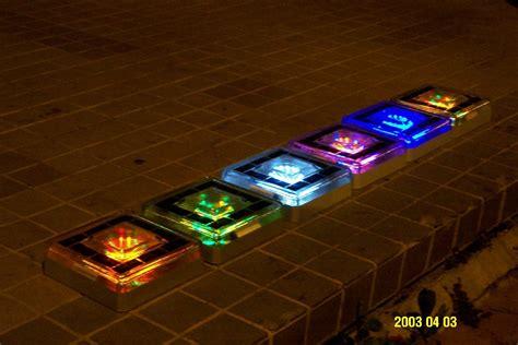 Solar Brick Lights by Underground Solar Lighting Multi Color Path Garden Solar