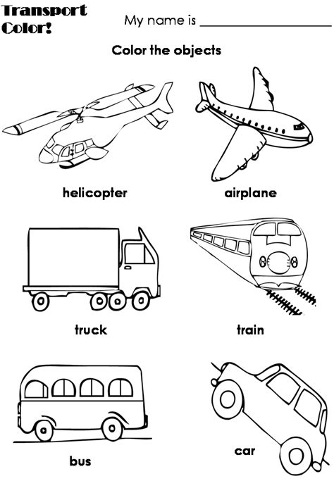 preschool coloring pages transportation coloring pictures of air transportation for preschool