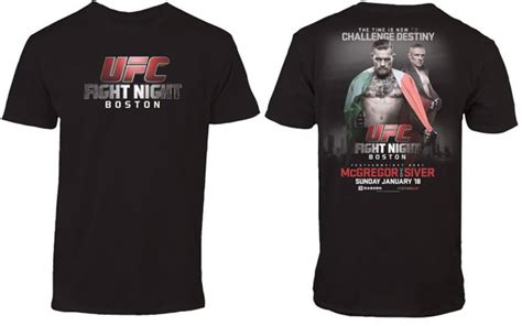 ufc fight mcgregor vs siver t shirt