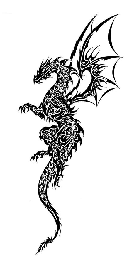 tribal tattoo dragon clipart best