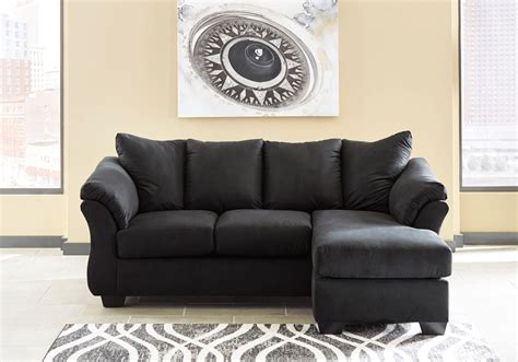 black couch with chaise darcy black sofa chaise evansville overstock warehouse