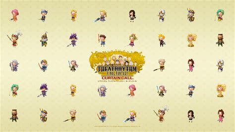 ff theatrhythm curtain call theatrhythm final fantasy curtain call wallpaper the