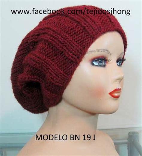 gorrosdos agujas on pinterest tejido tejidos and sombreros gorros en dos agujas para mujer imagui tejido de