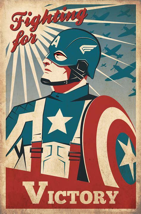 imagenes retro captain america retro poster by zenithuk on
