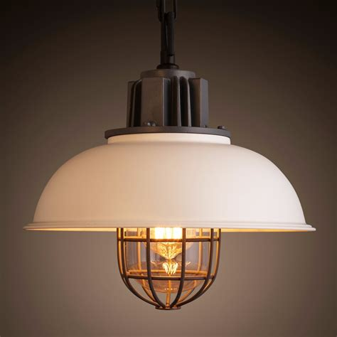 bright l shade modern industrial retro style caged ceiling pendant l