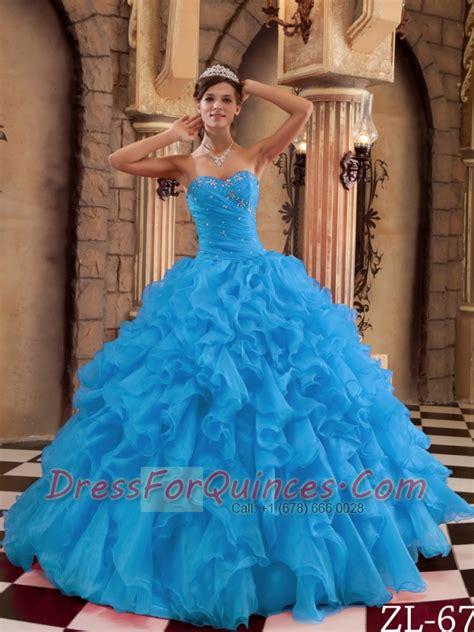 Henna Marun Dress Lace Gaun Pesta Manusia aqua blue gown sweetheart 15th birthday dresses ruffles organza