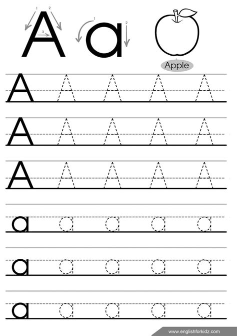 tracing letters template letter tracing worksheets for the kiddies