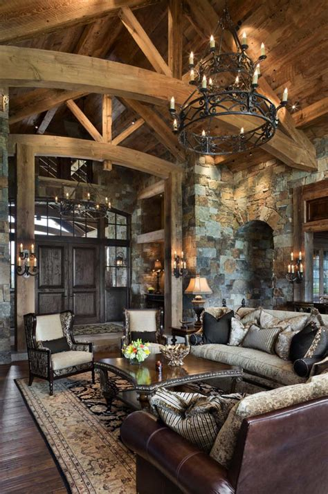 rustic home interiors rustic yet refined mountain home surrounded by montana s