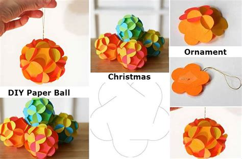 How To Make A Ornament Out Of Paper - diy paper ornament i diy