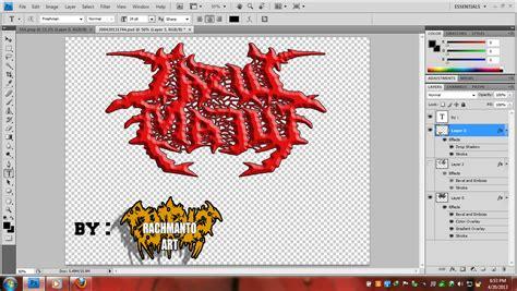 Cara Membuat Tulisan Death Metal Online | hell o cara membuat logo death metal tanpa scanner