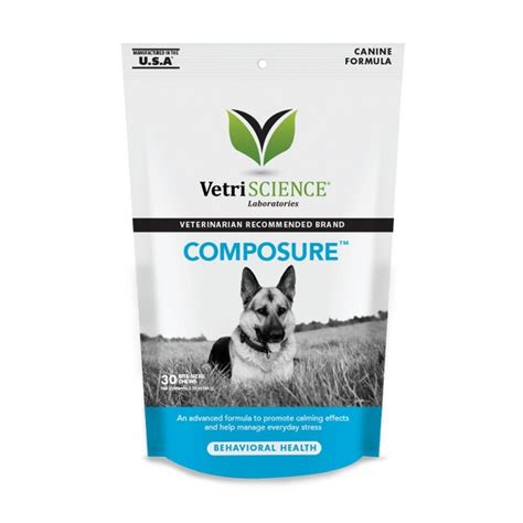calming pills for dogs vetriscience composure behavioral health bite sized chew supplement 30 count