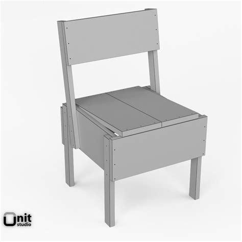 sedie dwg 3d artek sedia 1 chair 3d model max obj 3ds fbx dwg