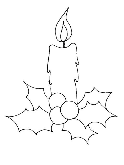 draw christmas candle coloring pages