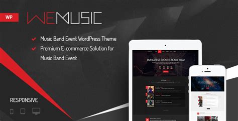 wemusic music band event wordpress theme by nootheme