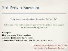 3rd Person Essay by Narration 1st 2nd And 3rd
