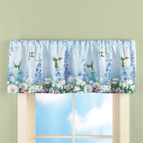 hummingbird curtains garden bliss hummingbird window valance bathroom kitchen