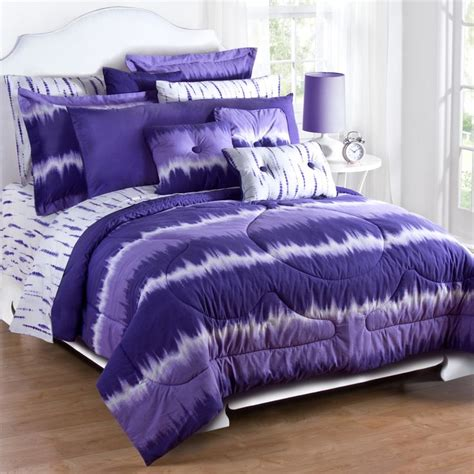 purple camo bedding karin maki purple tie dye comforter and pillow sham set twin