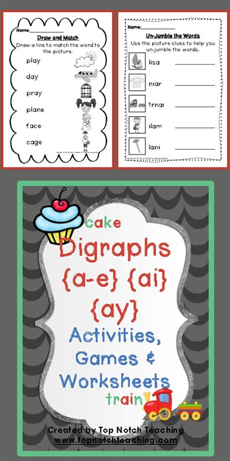 Activities The O Jays And - digraph activities worksheets a e ai ay