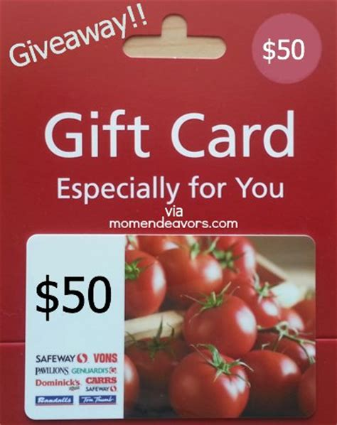 Gift Card At Safeway - buy groceries save on gas with safeway fuel rewards 50 gift card giveaway