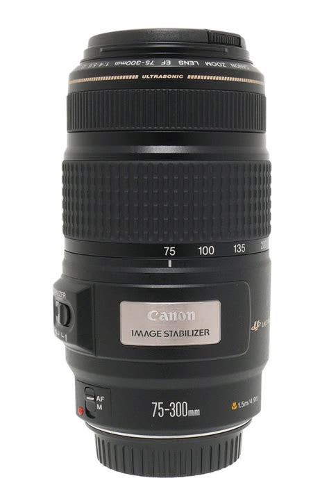 Lensa Canon 75 300mm Is Usm Canon Ef 75 300mm F 4 5 6 Is Usm Lens Db