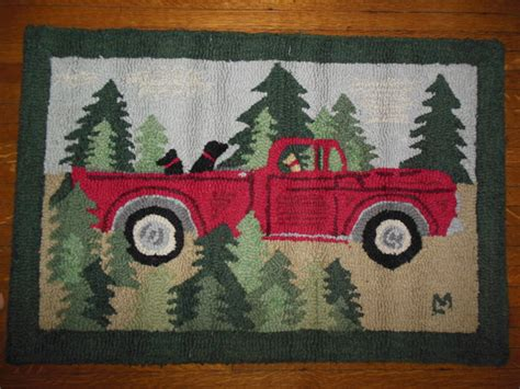 truck rugs truck hooked rug
