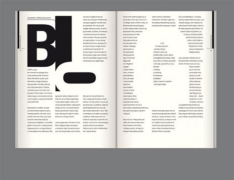 magazine layout letter editorial design bluszcz magazine by joanna tyborowska