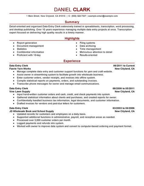 exle summary for resume of entry level resume summary exles entry level writing resume