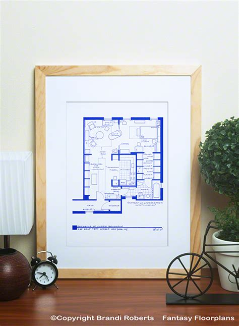 carrie bradshaw s apartment layout buy poster of carrie bradshaw apartment layout
