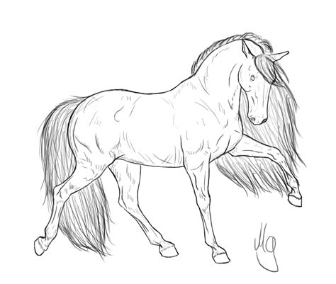 coloring pages of real horses side view realistic coloring coloring pages