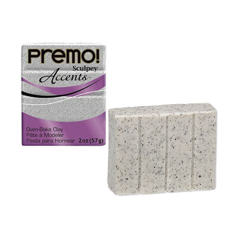 premo sculpey accents 174 polymer clay grey granite bar of 56 grams 2 ounces