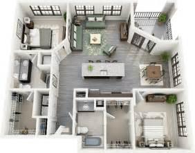 50 plans 3d d appartement avec 2 chambres appartements et 3d