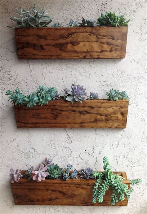 hanging planter box via etsy garden grow pinterest