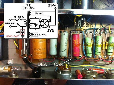 removing guitar capacitors eg j 12a