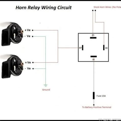 horn relay wiring diagram 3 pin horn relay wiring diagram sweet bosch 1970 chevelle