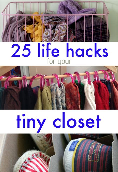 small closet hacks 25 brilliant lifehacks for your tiny closet