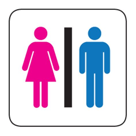 common restroom sign decal dezign with a z