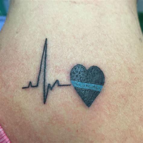 heart line tattoo thin blue line just stuff