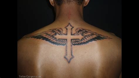 cross with wings back tattoo cross tattoos and designs page 31