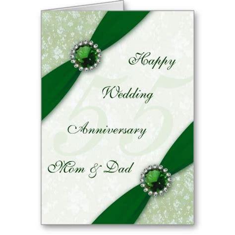 Damask 55th Wedding Anniversary Greeting Card   Beautiful