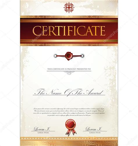 Certificate Scroll Template   Best Samples Templates