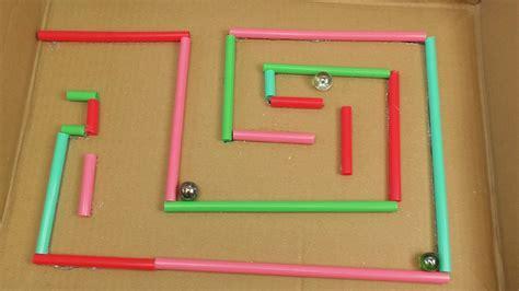 kugel labyrinth selber bauen basteln und spielen fuer